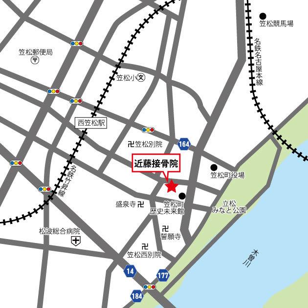 近藤接骨院へのアクセスマップ